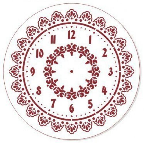 Трафарет пластиковый, многоразовый-часы,30см
