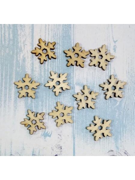 Заготовка из фанеры-Снежинка №2,размер 19 мм