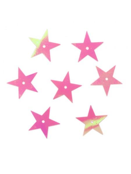 Пайетки 'звездочки,20мм,розовый голограмма А30-З