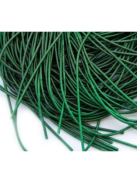 Канитель мягкая,цвет  тёмно-зелёный,1 мм- 5 гр,№152