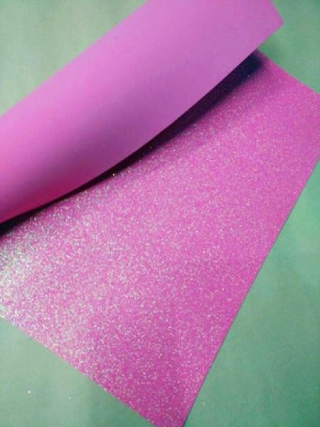 Глиттерный фоамиран, А4,цв-розовый