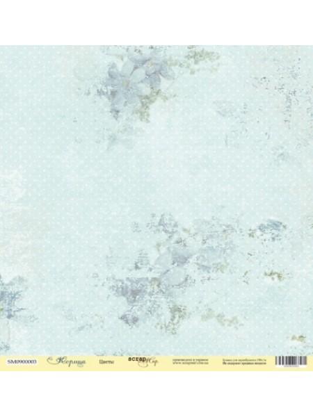 Лист односторонней бумаги 30x30 от Scrapmir Цветы из коллекции Корица