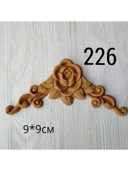 Декор из древесной пульпы-№226, 9*9см