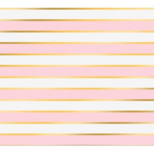 """Бумага с фольгированием  """"Розовые полосы"""",,30,5 см ? 30,5 см, цена за 1 лист"""