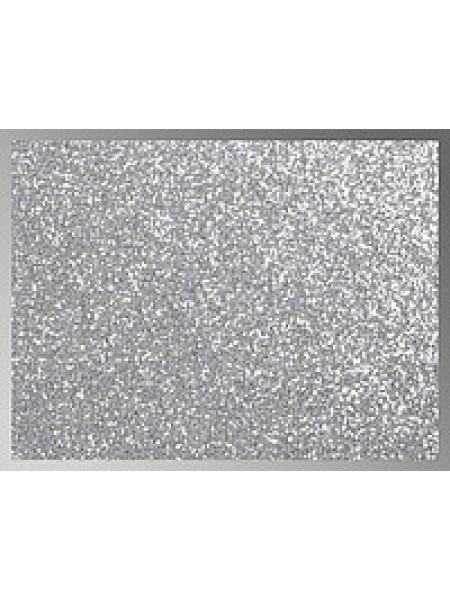 Картон с глиттером,20*30см,цв- серебро,цена за 1 лист