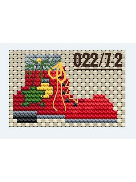 """Основа для вышивания по дереву """"Новогодний конёк-1"""",размер 10*7,5 см"""