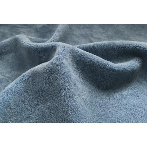 """Мех-плюш  """"Элит"""" ворс 5мм (20%х/б -80% акрил),плотный, 45см*50см, цв.голубой, Италия"""