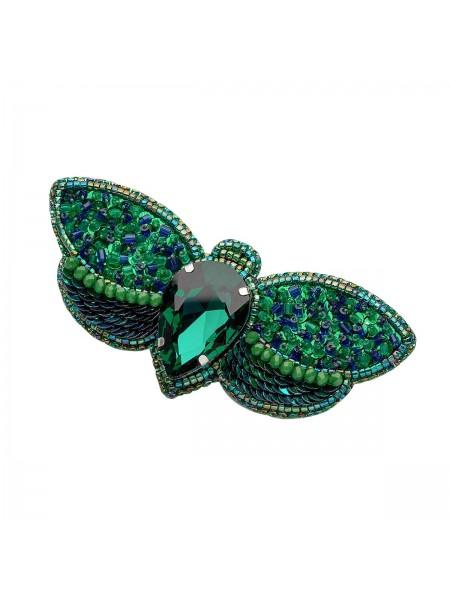 Набор для вышивания бисером: Брошь «Зелёный жук».