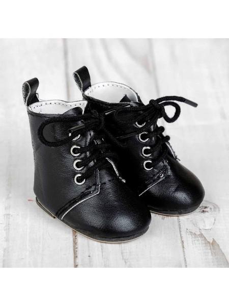 Ботинки для куклы , длина подошвы 7 см, цвет шнурков черный или белый