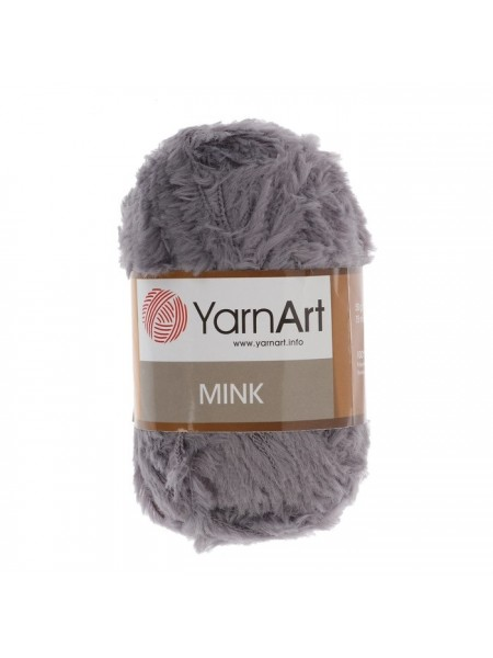 Пряжа YARNART-MINK(Минк),имитация меха.цв-серый,№335