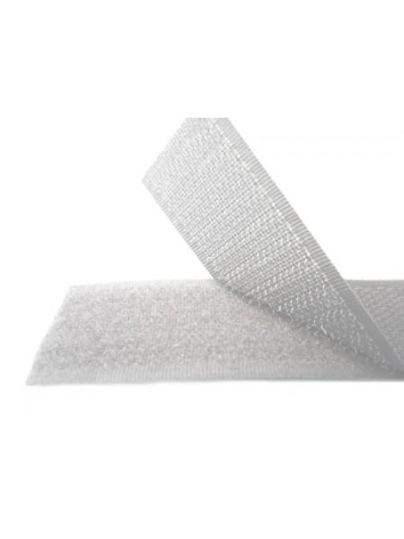 Лента-липучка,белая,20мм. цена 50 см