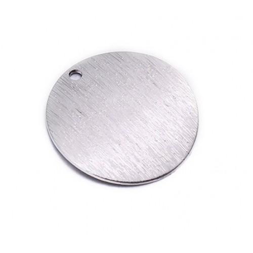 """Подвеска  для бижутерии """"Круг"""" 15*15мм,цв-серебро, цена 1 шт"""