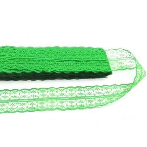 Кружево,цв-зеленый ,4,5см,Цена за 1м