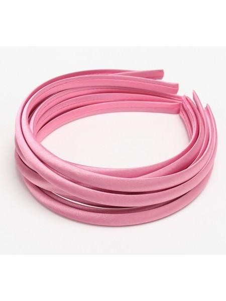 Обруч пластиковый в атласной ленте,10 мм-№7-розовый