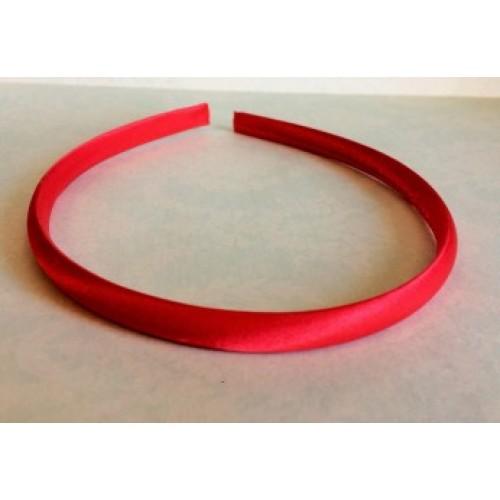Обруч пластиковый в атласной ленте,10 мм-№3-красный