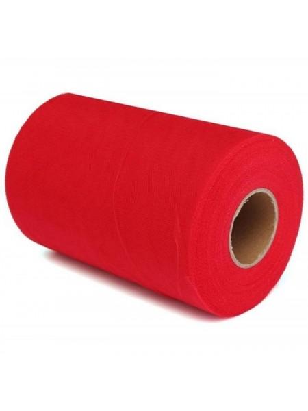 Лента фатиновая, 15 см цв-№-5-красный,цена за 1 метр
