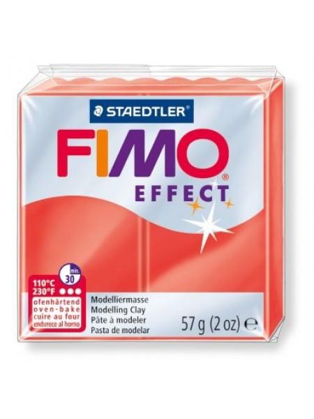 Полимерная глина FIMO effect,57гр,полупрозрачный-красный