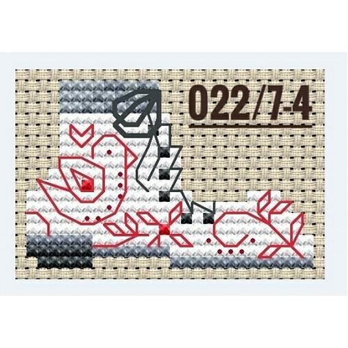 """Основа для вышивания по дереву """"Новогодний конёк-4"""",размер 10*7,5 см"""