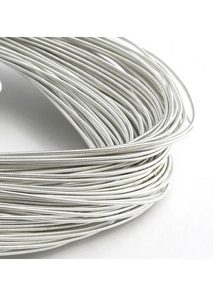 Канитель жёсткая , серебро,1 мм,цена за 5 гр