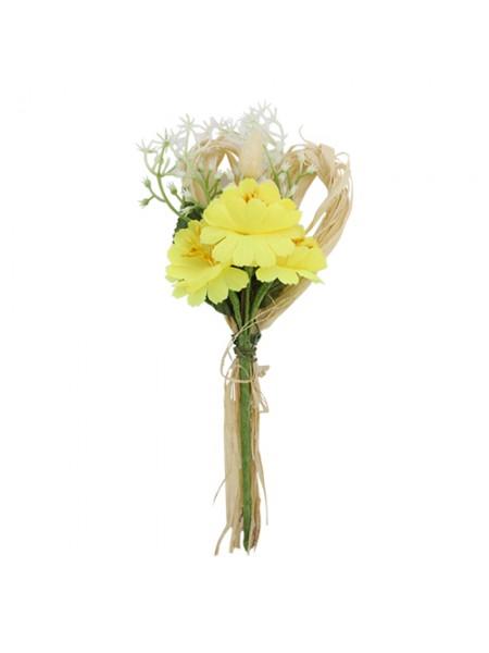 Декоративный букетик, жёлтый, 15*7см
