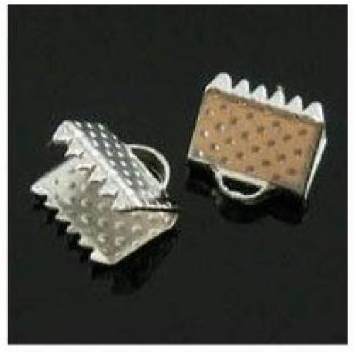 Зажим для ленты( браслета),серебро,10 мм, цена за 1 шт
