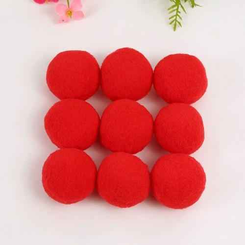 Помпон декоративный,2 см,цв-красный.цена за 1 шт