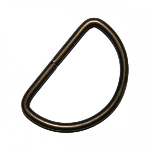 Полукольцо, цв-бронза,30мм
