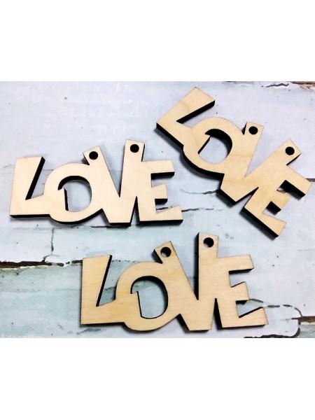 """Бирочка деревянная-""""Love"""",цена за 1 шт"""