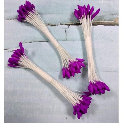Тайские тычинки каплевидные,лиловые