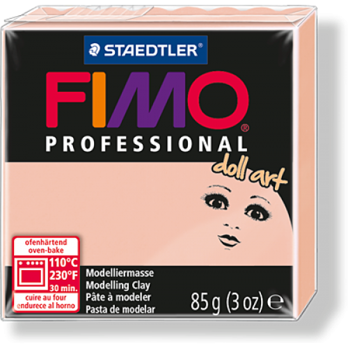 Полимерная глина FIMO professional doll art 85гр(Германия)-полупрозрачный розовый-432