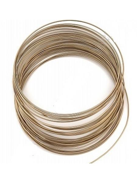 Проволока для плетения ,цв-коричневый,1,5мм.-5м