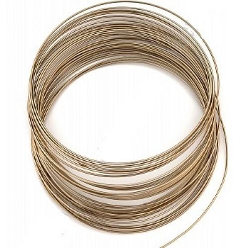Проволока для плетения ,цв-коричневый,1мм.-10м