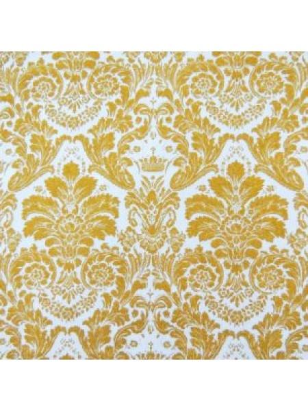 Мерный лоскут(хлопок)-Дамаск золотой,37*50 см.цена за отрез