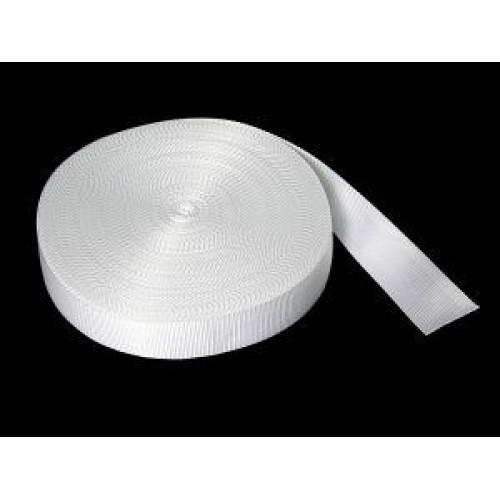 Стропа-ременная лента, 25мм,цв-белый,цена за 1 м