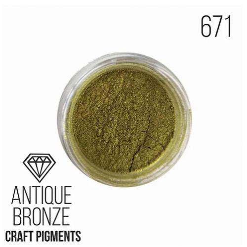 """Пигмент минеральный  CraftPigments """"Antiqie Bronze"""", Античная бронза,10 мм,"""