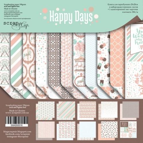 Набор двусторонней бумаги 30х30см от Scrapmir-Happy Days