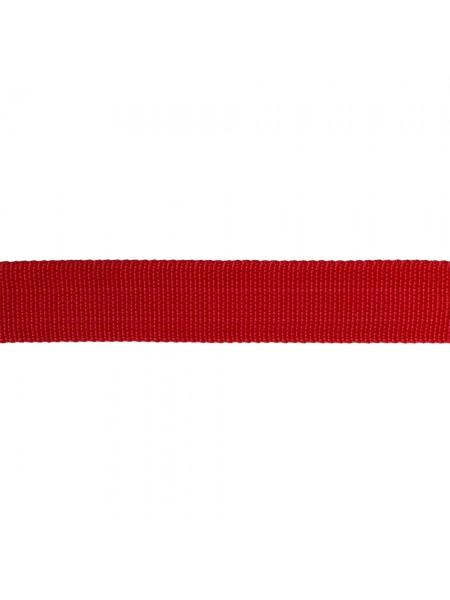 Стропа-ременная лента, 25мм,цв-красный,цена за 1 м