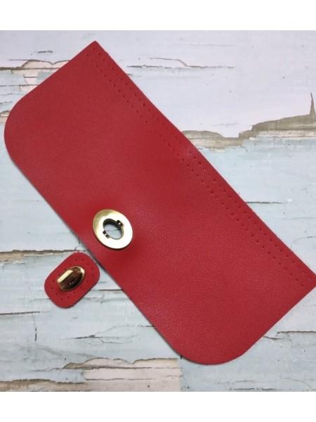 Клапан-крышка для сумочки с поворотным замком,красный,20*10см