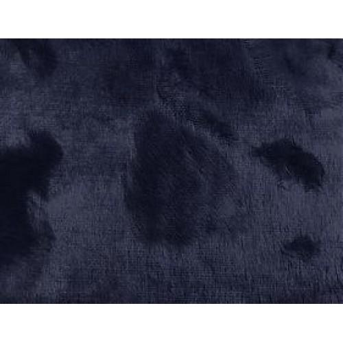 "Вискоза ""Элит"" фактурная,ворс 6мм (основа х/б )цв-черно-синий, 45см*50см, Италия"