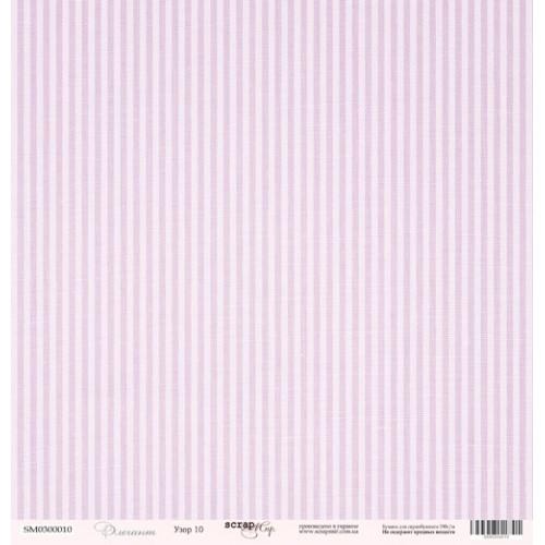 Лист односторонней бумаги 30x30 от Scrapmir Узор 10 из коллекции Элегант