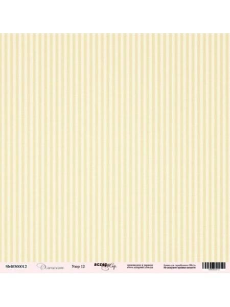 Лист односторонней бумаги 30x30 от Scrapmir Узор 12 из коллекции Элегант