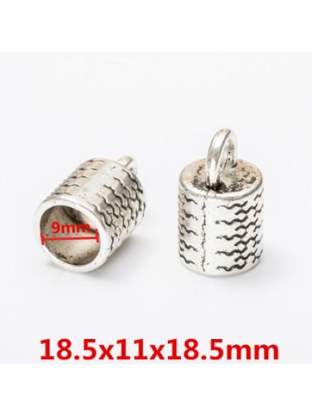 Концевик для шнура,кисточки,цв-античное серебро.18*11мм,цена  за 1 шт
