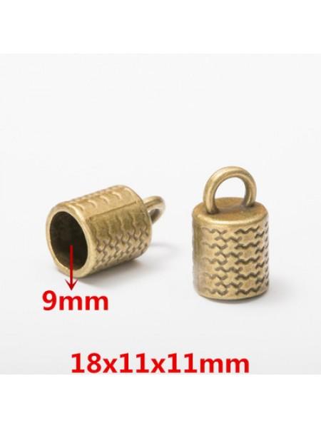 Концевик для шнура,кисточки,цв-бронза.18*11мм,цена  за 1 шт
