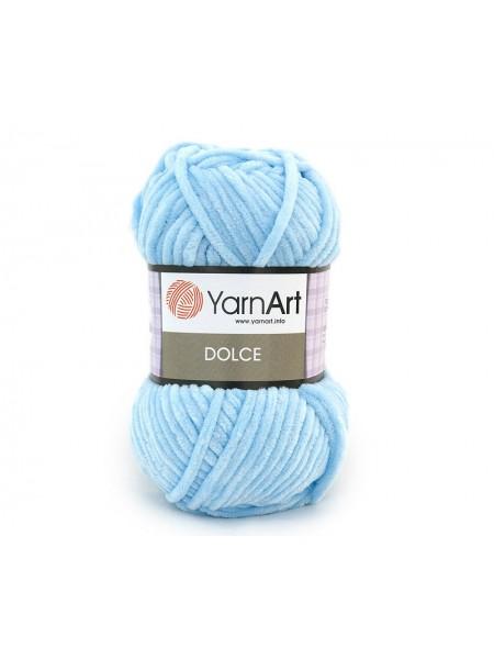 Плюшевая пряжа Dolce YarnArt ,№749,цв-нежно-голубой,100гр
