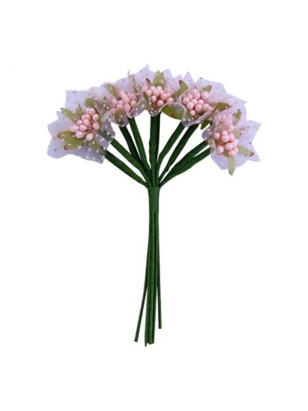 Букетик тычинок с фатином,розовые