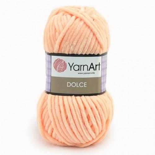Плюшевая пряжа Dolce YarnArt ,№773,цв-персик,100гр