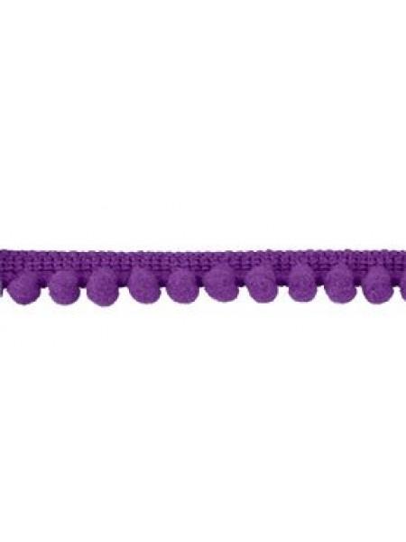 Тесьма с мини помпонами.фиолетовая,1 метр