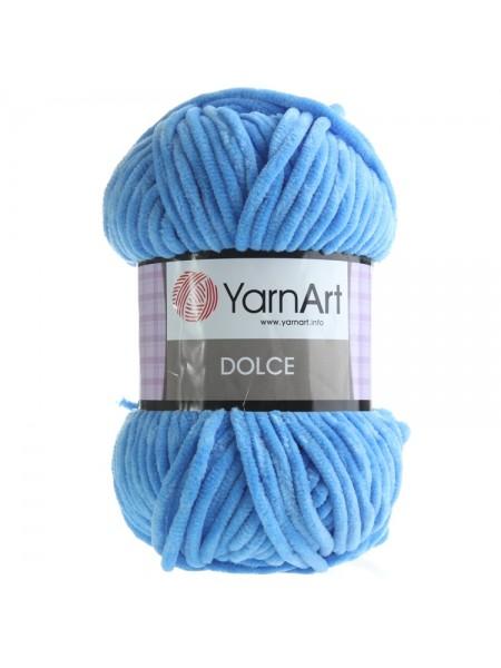 Плюшевая пряжа Dolce YarnArt ,№777,цв-синий,100гр