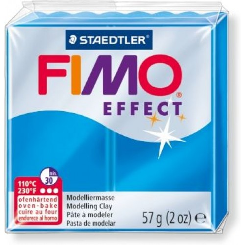 Полимерная глина FIMO effect,57гр, полупрозрачный синий