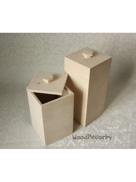 Заготовка - Короб с крышкой большой. 9*9*20см